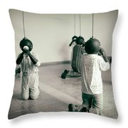 They Are Here  Throw Pillow by A Rey