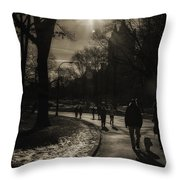 They Come To Central Park Throw Pillow by Madeline Ellis