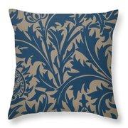 Thistle Design Throw Pillow by William Morris