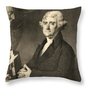 Thomas Jefferson Throw Pillow by American School