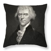 Thomas Jefferson Throw Pillow by English School