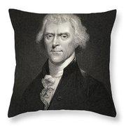 Thomas Jefferson Throw Pillow by English School