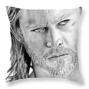 Thor Odinson Throw Pillow by Kayleigh Semeniuk