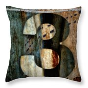 Three Along The Way Throw Pillow by Carol Leigh