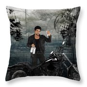Three For The Road Throw Pillow by Bedros Awak