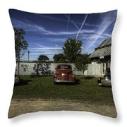 Three Old Timers Throw Pillow by Thomas Young