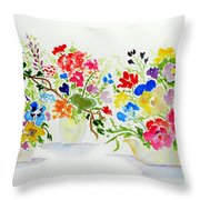 Three Pots Throw Pillow by Jamie Frier