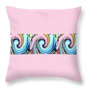Three Swirls Throw Pillow by Helena Tiainen