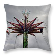 Thrill Tower Throw Pillow by Skip Willits