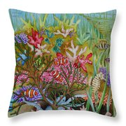 Thriving Ocean -sunken Ship Throw Pillow by Katherine Young-Beck