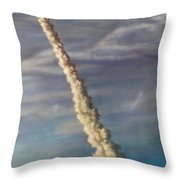 Throttle Up Throw Pillow by Sean Connolly