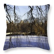 Through The Branches 1 - Central Park - Nyc Throw Pillow by Madeline Ellis