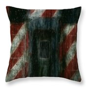 Through The Window On A Rainy Day In May Throw Pillow by Jack Zulli