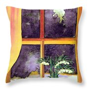 Through The Window Throw Pillow by Patricia Griffin Brett