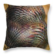 Thru The Maze Throw Pillow by Deborah Benoit