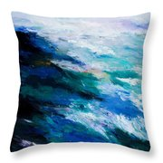 Thunder Tide Throw Pillow by Larry Martin