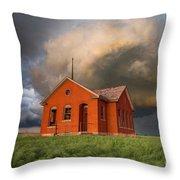Thunderous Plains Throw Pillow by Jill Van Doren Rolo