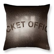 Ticket Office Window Throw Pillow by Olivier Le Queinec