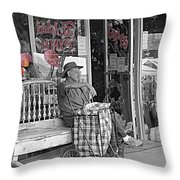 Tickled Pink Throw Pillow by Bartz Johnson