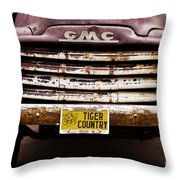 Tiger Country - Purple And Old Throw Pillow by Scott Pellegrin