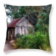 Timber Shack Throw Pillow by Kaye Menner