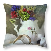 Time In A Pocket Throw Pillow by Diana Angstadt