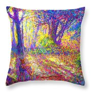 Dancing Shadows Throw Pillow by Jane Small