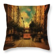 Timepiece Throw Pillow by Taylan Soyturk