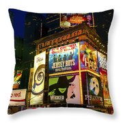 Times Square Throw Pillow by Svetlana Sewell