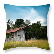 tin roof...ivy covered barn Throw Pillow by Shane Holsclaw