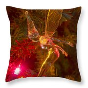 Tinker Bell Christmas Tree Landing Throw Pillow by James BO  Insogna
