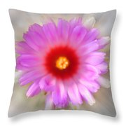 To Return to Innocence. Cactus Flower Throw Pillow by Jenny Rainbow