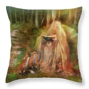 To Spin A Tale Throw Pillow by Aimee Stewart
