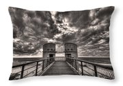 To The Bridge Throw Pillow by Ron Shoshani
