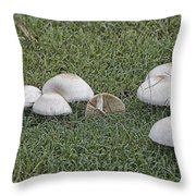 Toadstools V5 Throw Pillow by Douglas Barnard