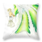 Tobias Incomplete Throw Pillow by Shawn Dall
