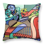 Together Again Throw Pillow by Anthony Falbo