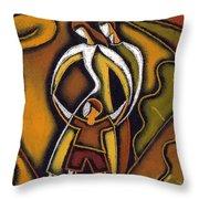 Together Throw Pillow by Leon Zernitsky