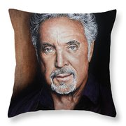 Tom Jones The Voice Throw Pillow by Andrew Read