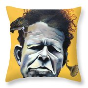 Tom Waits - He's Big In Japan Throw Pillow by Kelly Jade King
