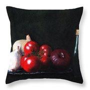 Tomatoes And Onions Throw Pillow by Anastasiya Malakhova