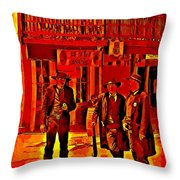Tombstone Heat Throw Pillow by John Malone