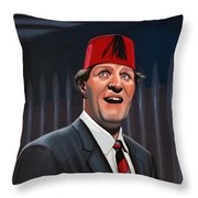 Tommy Cooper Throw Pillow by Paul Meijering