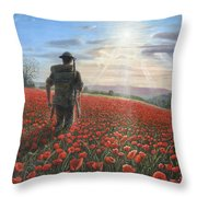 Tommy Throw Pillow by Richard Harpum