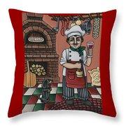 Tommys Italian Kitchen Throw Pillow by Victoria De Almeida