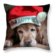 Too Much Eggnog Throw Pillow by Karen Wiles