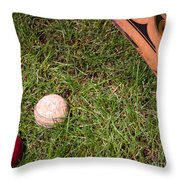 Tools Of The Game  Throw Pillow by Tom Gari Gallery-Three-Photography
