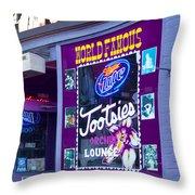 Tootsies Nashville Throw Pillow by Brian Jannsen