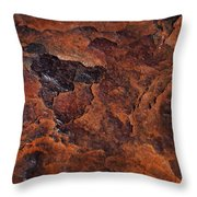 Topography Of Rust Throw Pillow by Rona Black