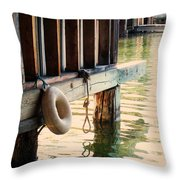 Torch River Bayou Throw Pillow by Michelle Calkins
